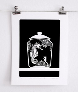 Curiosity Cabinet Series 1, No. 5 - Limited Edition Screenprint