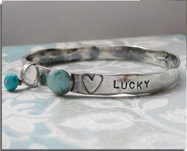 Custom Heart Bangle