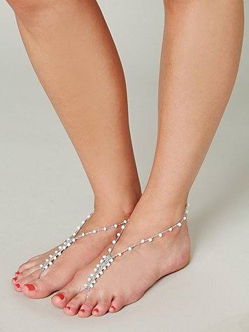 Crochet and Bead Anklet